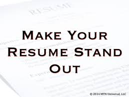 nursing resumes that stand out