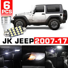 jeep wrangler map light replacement led interior kit 8pcs for jeep wrangler jk 2007 2017 genssi led
