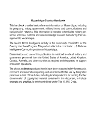 Radio Antena Bor Uzivo Marine Corps Intelligence Activity Mozambique Country Handbook