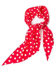saint laurent polka dot scarf in red lyst