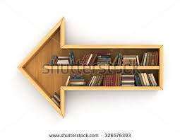 Tree Of Knowledge Bookshelf Concept Training Wooden Bookshelf Form Globe Stock Illustration