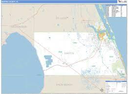 Palm Beach Florida Zip Code Map Martin County Fl Zip Code Wall Map Basic Style By Marketmaps