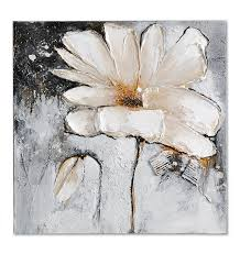 giftcraft white flower oil painting on canvas art pinterest