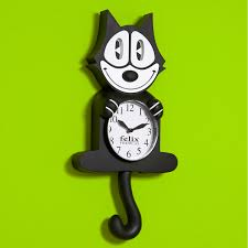 60s Clock Felix The Cat Animated Wall Clock Vintage Cartoon Clocks