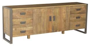 Metal Sideboard Buffet by New Urban Solid Hardwood Timber Modern Rustic Metal Buffet Side