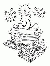 holiday coloring pages printable free birthday cake and balloons coloring page for kids holiday