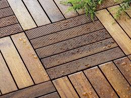 waterproof 450x450mm teak patio wood flooring tiles