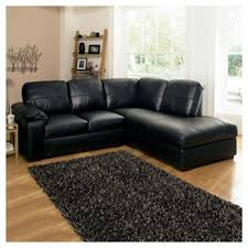 Black Leather Corner Sofa Buy Ashmore Leather Corner Sofa Black Right Facing From Our