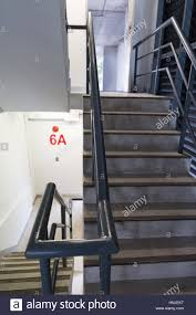 Fire Evacuation Plan Office by Fire Escape Stair Way In Building Safety Plan Stock Photo