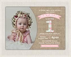 first birthday invitation girls shabby chic girls pink blue 1st