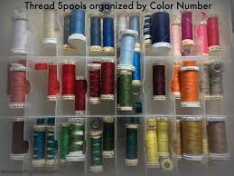 organize sewing thread a simple way to keep track of what colors