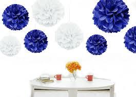 royal blue tissue paper kubert pom poms 12 pcs tissue paper flowers royal