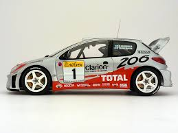 peugeot 206 rally a pair of autoart peugeot 206 wrc models scale143 com