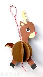 reindeer ornaments paper reindeer ornament ted s