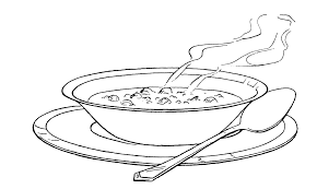 free coloring pages of bowl of soup clip art image 25649