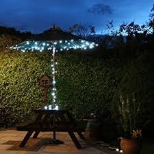 outdoor patio umbrella lighting ideas home optimized