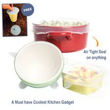 amazon com multi size 6 silicone lids food and bowl covers