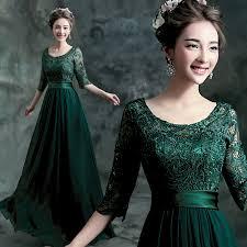 sale 2015 luxury emerald green prom dress long half scoop