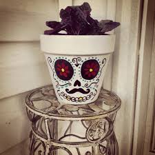 halloween clay pot crafts diy sugar skull ceramic pot crafts pinterest ceramic pots