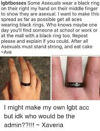 all black rings images Lgbtbosses some asexuals wear a black ring on their right my hand png
