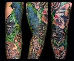 my animal tattoos on sleeve in 2017 real photo pictures images
