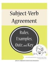 20 rules of subject verb agreement english language english and