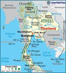 map of thailand thailand large color map