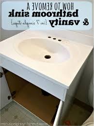how to fix bathroom sink elegant removing a bathroom vanity