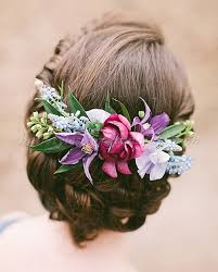 wedding hair flowers floral hair pieces for brides wedding hairstyle with flowers