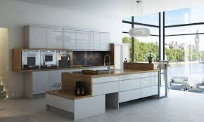 white gloss and walnut kitchen chrome pendant lamp modern wall