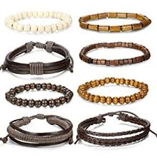 adjustable braided leather bracelet images Funrun jewelry 4pcs 8mm distance bracelet for men jpg