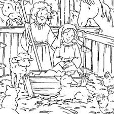 jesus nativity cartoon depiction coloring jesus nativity