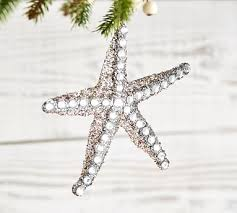 sparkle starfish ornament pottery barn