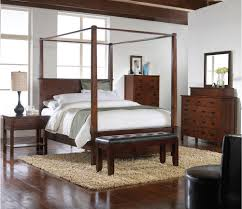 4 Piece Bedroom Furniture Sets Carey Queen Canopy Bed 4 Piece Bedroom Set Furniture Depot Red