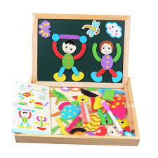 Teens Christmas Gifts - children u0027s easel magnetic drawing board kids toy puzzle wooden