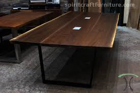 live edge wood slab conference room tables and desk tops