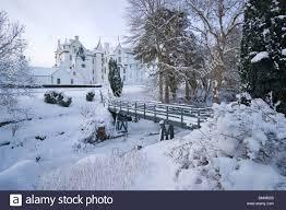 Snow Scotland Blair Atholl Castle Winter Snow Perthshire Scotland