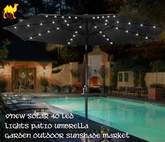 Patio Umbrella Led Lights by Outdoor Light Fetching Outdoor String Lights Garden Outdoor