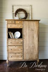 Farmhouse Armoire Raw Wood Finish Is Stunning On This Rescued And Repurposed Armoire