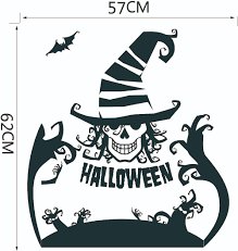 aw9587 halloween creative clown face mask decals skull jester