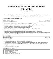 resume exles for entry level banking resume objective entry level http www resumecareer