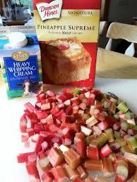rhubarb custard upside down cake