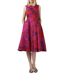 papell dress papell midi floral dress dillards