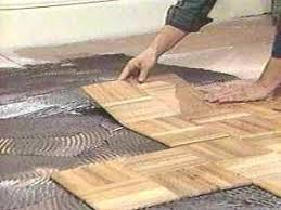 parquet floors 7 laying the tiles doityourself com