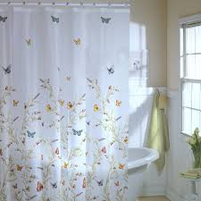 funny shower curtains plastic with butterfly pattern and white