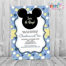 mickey mouse baby shower invitations mickey mouse baby shower invitation printable baby mickey boy