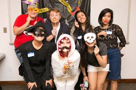college halloween parties elasp students craft spooky gingerbread houses during mixer