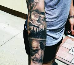 clouds and tattoos for gentlemen on forearm