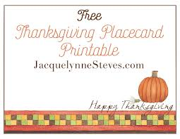free printable thanksgiving menu and place cards