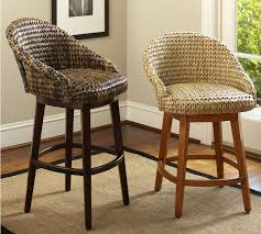 bar stools that swivel seagrass bucket swivel barstool pottery barn